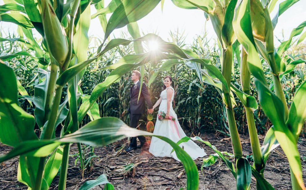 Professionelle Hochzeitsfotografie von Jung und Wild design - Hochzeit in Schuhbauers Tenne bei Allershausen nördlich von München