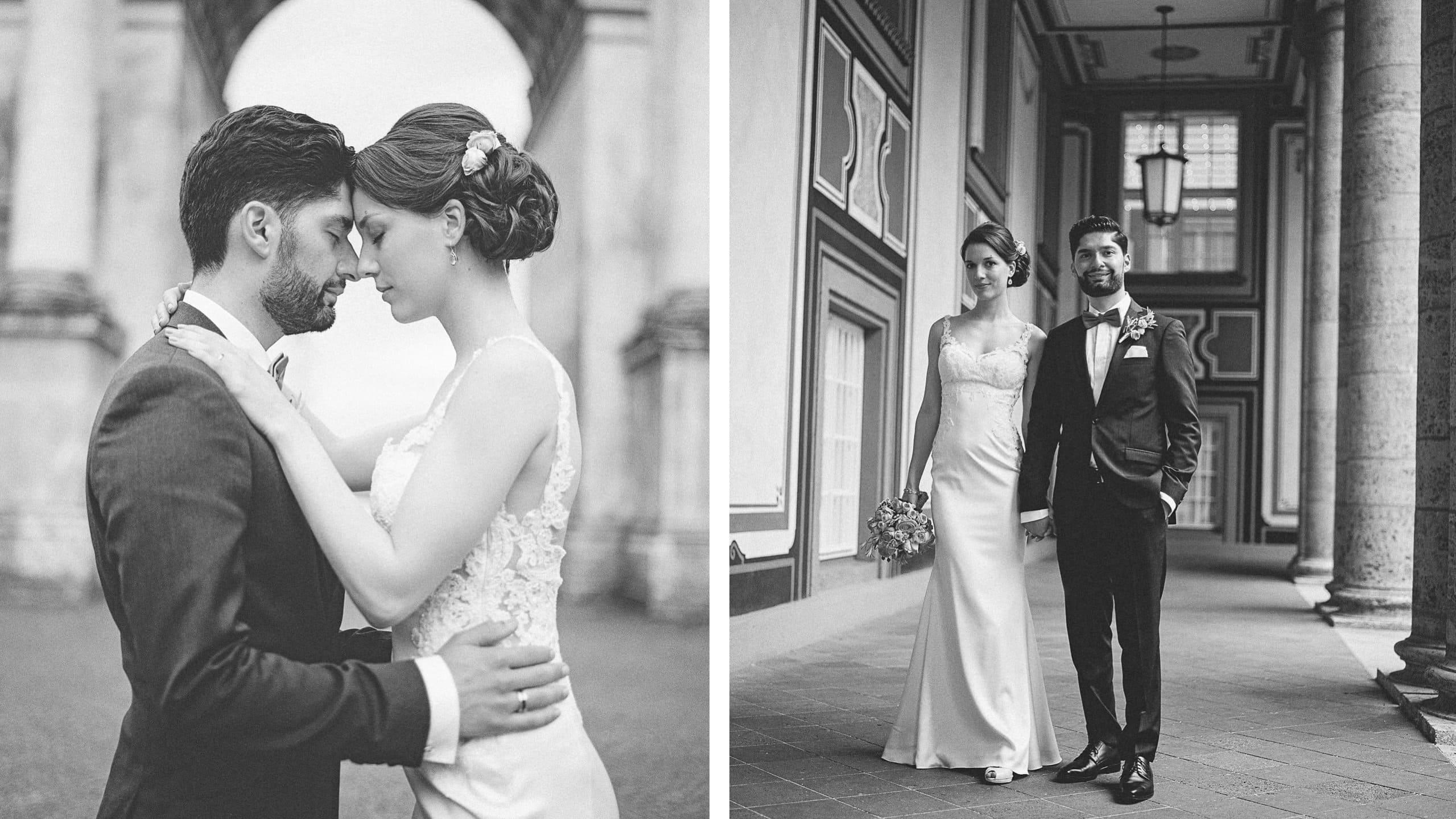 Hochzeitsfoto aus analoger Mittelformat-Kamera
