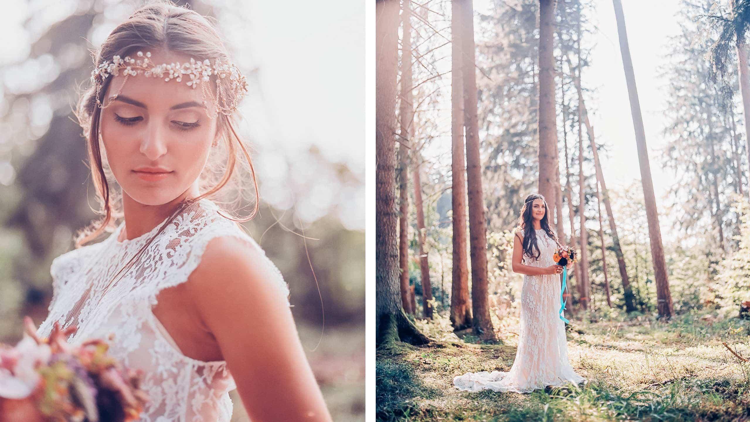 Vintage Hochzeit im Wald