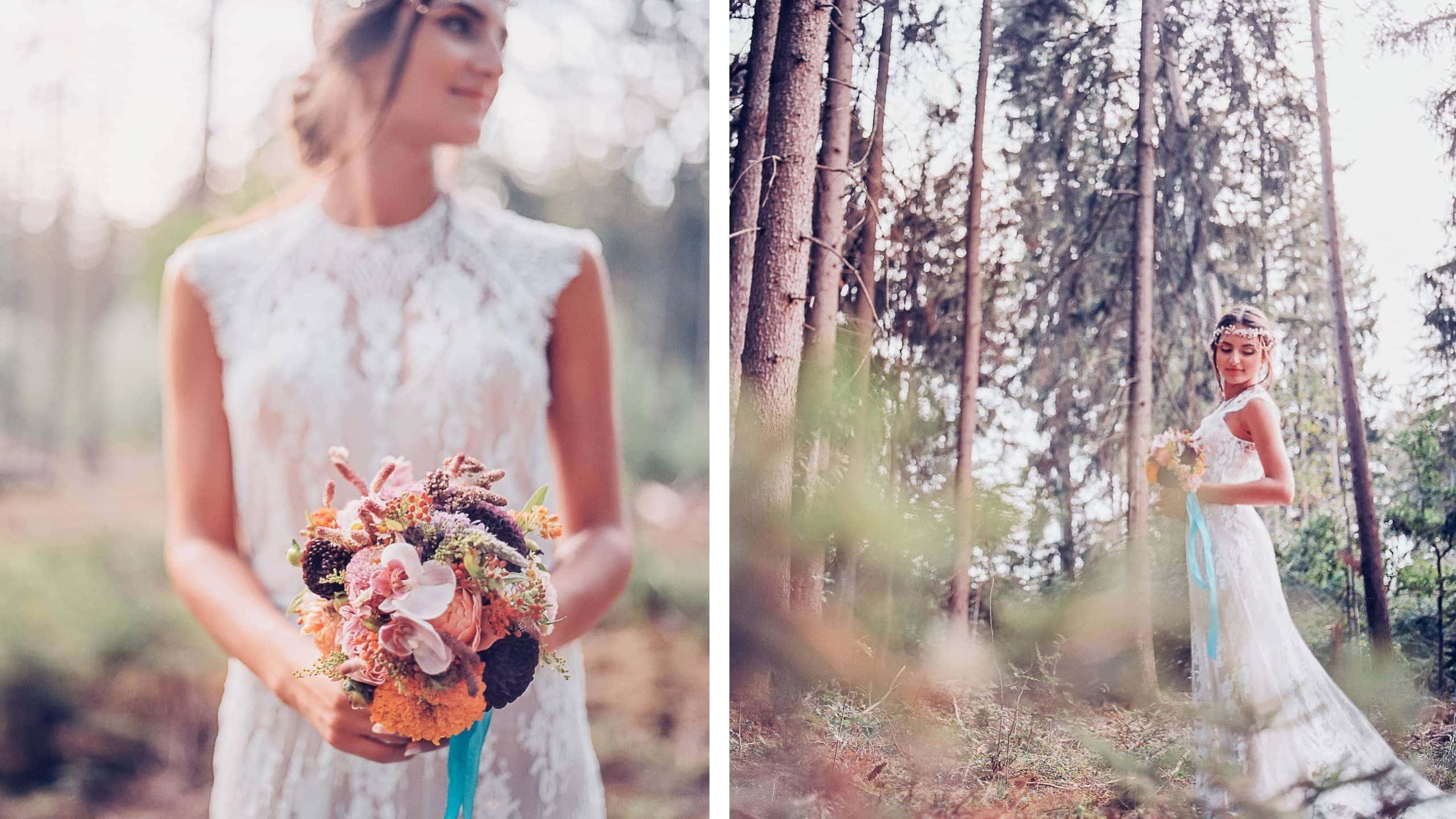 Braut im Vintage Look