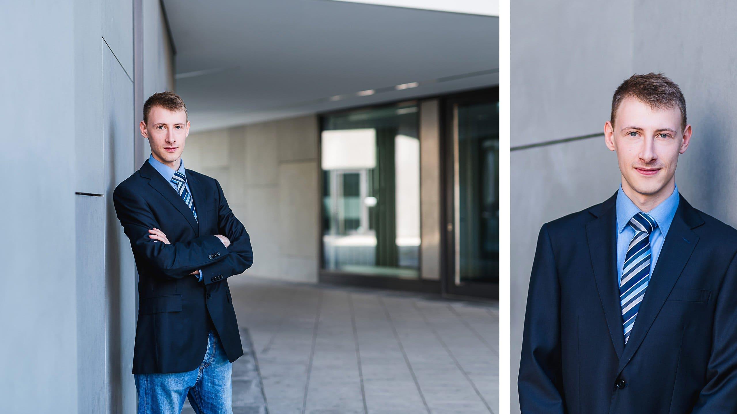 Moderne Bewerbungsfotos für Berufseinsteiger, Sichtbeton in München