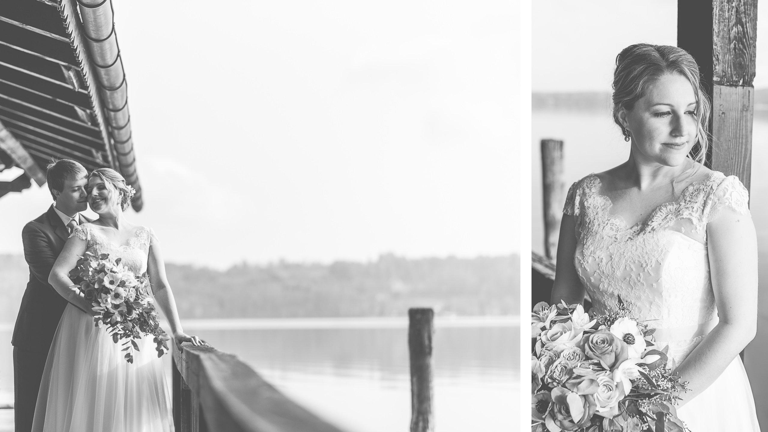 Hochzeitsfotos am Starnberger See im LaVilla, Novemberhochzeit