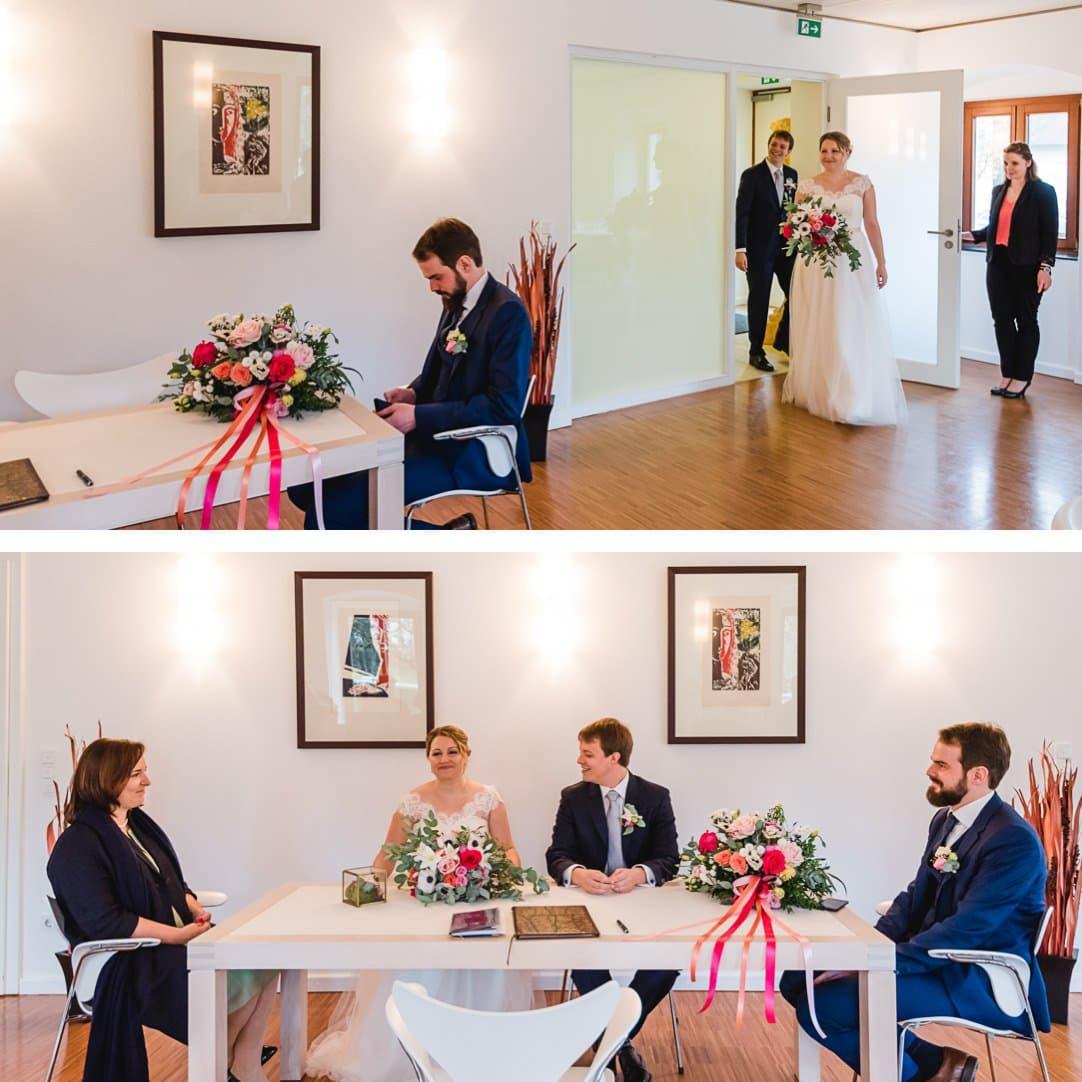 Standesamthochzeit im Pöcking, heller Saal, Herbsthochzeit von Jung und Wild design, Heiraten im LaVilla