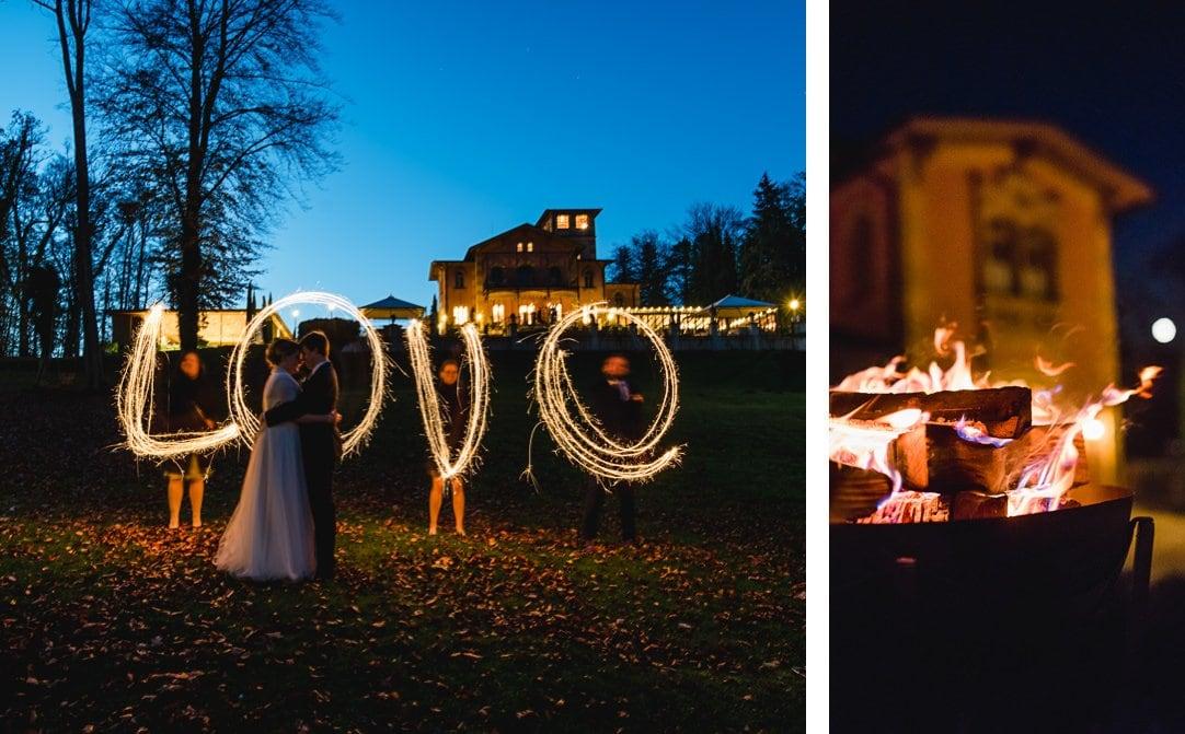 Sternenwerfer Fotos am Starnberger See, Lightpainting und Lagerfeuer, Hochzeitsfotos von Jung und Wild design