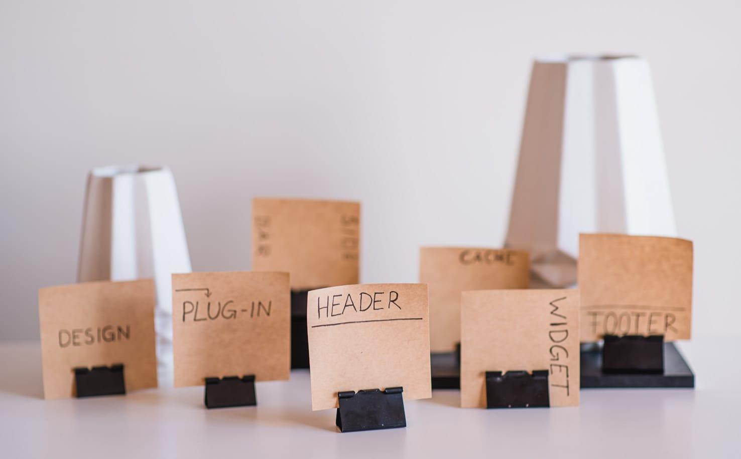 Wordpress Fachbegriffe einfach erklärt: was sind Header, Footer, PlugIn und Widgets